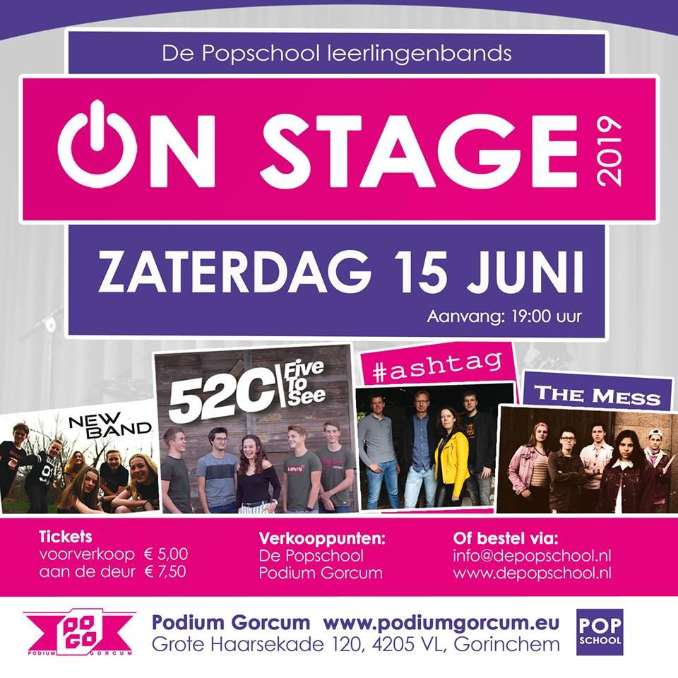 De Popschool Leerlingenbands On Stage 2019 @ Podium Gorcum