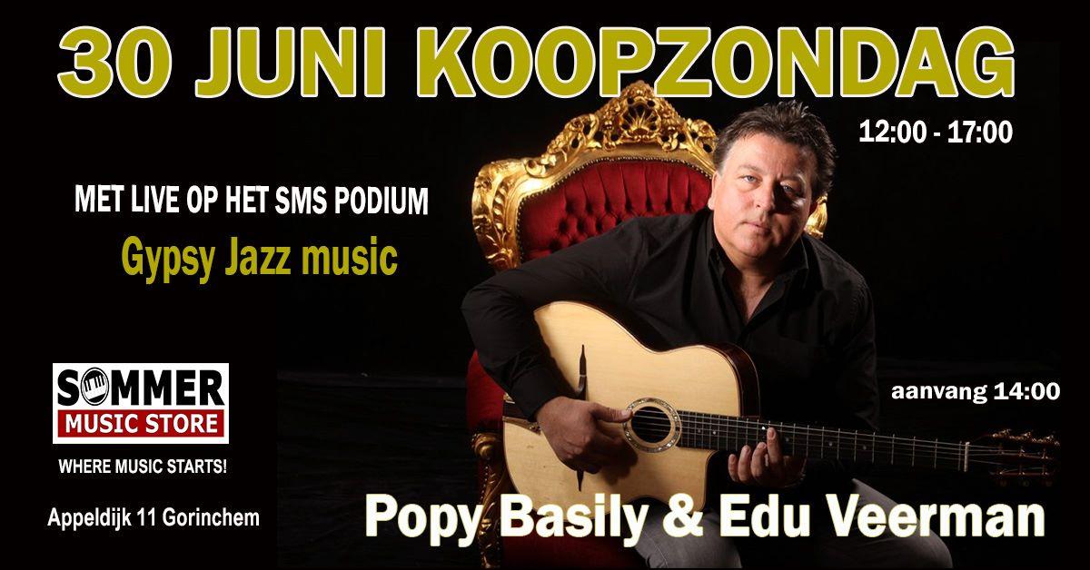 Koopzondag met Gypsy Jazz gitarist Popy Basily @ Sommer Music Store